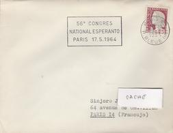 LSC 1964 -  PARIS - Flamme 58èm Congrès National D' ESPERANTO - Paris 17.5.1964 - Esperanto