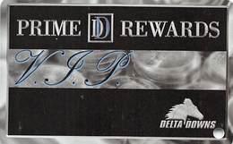 Delta Downs Racetrack Vinton, LA - BLANK VIP Slot Card - Casino Cards
