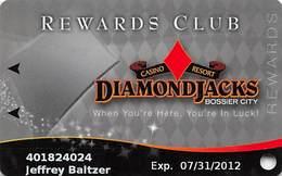 Diamond Jack's Casino Bossier City, LA - Slot Card - Copyright 2011 - Casino Cards