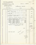Facture 1960 Menuiserie -ebenisterie Sommeilly Freres Et Fils Sedan - 1950 - ...