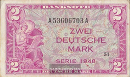 FRD (FR.Germany) Rosenbg: 234a, Kenn-Bst: A, Series: A Strong Used (IV) 1948 2 German Mark - 2 Deutsche Mark