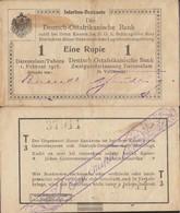 German-Eastern Africa Rosenbg: 929u Series: T3 Used (III) 1916 1 Rupie - [12] Colonies & Banques étrangères