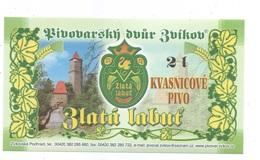 "Czech Republic- Minibrewery Zvikov, Beer Zlata Labut (""Gold Swan""),  Self-adhesive Label - Beer"
