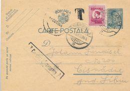 1944 Romania Timisoara Censor To Cisnadie Revenue Stamp Postage Due T Porto - 2. Weltkrieg (Briefe)