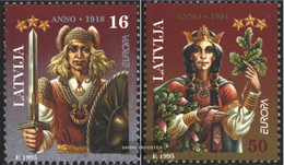 Latvia 414-415 (complete.issue.) Unmounted Mint / Never Hinged 1995 Peace - Latvia
