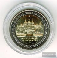 FRD (FR.Germany) Jägernr: 526 2007 G Stgl./unzirkuliert Stgl./unzirkuliert 2007 2 Euro Schweriner Castle - Germany