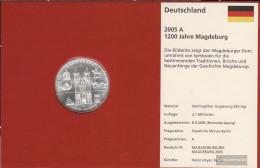 FRD (FR.Germany) Jägernr: 515 2005 A Stgl./unzirkuliert Silver Stgl./unzirkuliert 2005 10 Euro 1200 Years Magdeburg - Germany