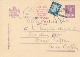 1932 Romania Military Postcard 1 Leu King Charles Aviation Stamp Clean - Briefe U. Dokumente