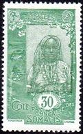 Cote Des Somalis - N° 126 * Femme Somali 20c Vert Et Vert Foncé - Oblitérés