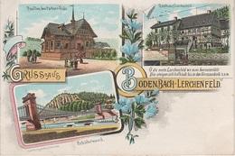 Litho AK Bodenbach Podmokly Lerchenfeld Gasthof Pavillon Pschorr Bräu A Tetschen Decin Peiperz Kalmswiese Herbstwiese - Sudeten