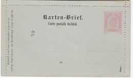 ÖSTERREICH 1890 - KB 28  Rumänisch  Nicht Gelaufen - Interi Postali