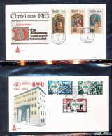 Malta 634-36  Worker's Union B48-50 Christmas Paintings With First Day Cancel 1983 A04s - Malta