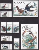 Ghana, Fauna, Birds MNH / 1989 - Oiseaux