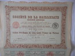 Societe De La MAILLERAYE 1921       PARIS - Other