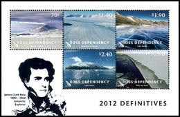 Nuova Zelanda / New Zealand (Ross Dependency) 2012: Foglietto Paesaggi Polari / Landscapes Definitives S/S ** - Unused Stamps