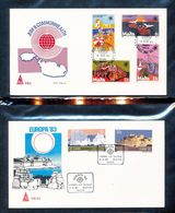 Malta  623-26 Commonwealth Day 62728 EUROPA 83 Temples With First Day Cancel 1983 A04s - Malta