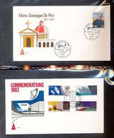 Malta  6223 Mons De Piro 629-32 Communications Year Dish Ship Truck Games With First Day Cancel 1983 A04s - Malta