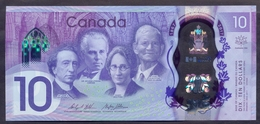 Canada 10 Dollars 2017 UNC P- 112 < Polymer, Canada's 150th Anniversary > - Canada