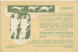 Hungary 1911 Romania Lippa Lipova Hunting Forest Office Dance Invitation - Programme