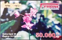Mobilecard Laos - Blumen, Flowers - Orchidee,orchid (1) - Laos