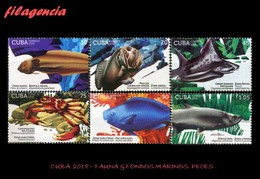 AMERICA. CUBA MINT. 2018 FAUNA & FONDOS MARINOS. PECES - Cuba