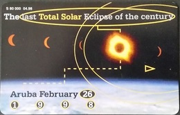 Telefonkarte Aruba - Total Solar Eclipse - 4/98 - Aruba