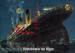 MVS-BK1-011-3 MINT ¤ NIGER 1998 BLOCK  ¤  MARITIEM - TITANIC - SHIPS OVER THE WORLD - Maritiem