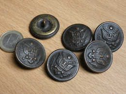 LOT 6 BOUTONS. US WW1. DIAMETRE 29MM. - Buttons