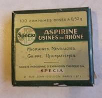 Petite Boite D ' Aspirine , Usine Du Rhône - Société Specia - Boxes