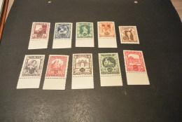 K16000 - Set MNh Autriche - Austria - 1947 - SC. B208-217  - MI. 812-821 - 1945-.... 2ème République