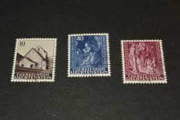 K16047- Set Used Liechtenstein - 1964 - SC. 391-393 - Masescha Chapel  .... - Liechtenstein
