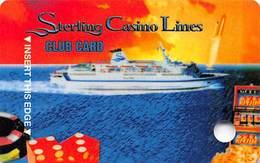 Sterling Casino Lines Ambassador Club VIP Card - Cape Canaveral, FL Casino Cruise Ships BLANK - Casino Cards