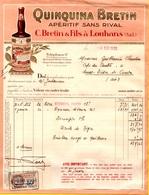 Facture QUINQUINA BRETIN - Francia
