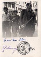 """GROUPE FRANC SAHARA ""  AOUT 1944"" Tampon ""LA LIBERATION NATIONALE -ZONE NORD LIBERATION . (C.F.L.N.)""  PH. G. LIERRE - Krieg, Militär"