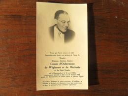 SOUVENIR PIEUX / COMTE D'OULTREMONT DE WEGIMONT ET DE WARFUSEE   / SIPPENAEKEN  1905   XHOS  1968 - Avvisi Di Necrologio