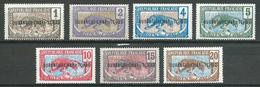 Oubangui-Chari YT N°1-2-3-4-5-6-7 Panthère Surchargé Oubangui-Chari Tchad Neuf/charnière * - Oubangui (1915-1936)