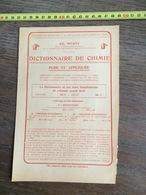 FLYERS ENCART PUBLICITAIRE LIVRE HACHETTE AD WURTZ DICTIONNAIRE BOUILLET CHIMIE - Collections