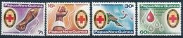 394-397 Papua Neuguinea - Rotkreuz Blutbank - Postfrisch/** - Papouasie-Nouvelle-Guinée