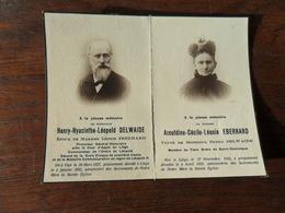 SOUVENIR PIEUX / Mr HHL DELWAIDE PROCUREUR   / VISE 1837 LIEGE 1922 ET Mme ACL EBERHARD  LIEGE 1843 1922 - Avvisi Di Necrologio