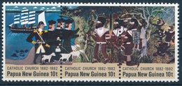 452-454 Papua Neuguinea - 100 Jahre Katholische Mission - Postfrisch/** - Papouasie-Nouvelle-Guinée