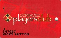Seminole Hard Rock Casino - Okeechobee, FL - Slot Card - Casino Cards