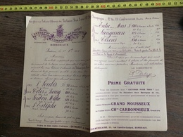 FLYERS ENCART PUBLICITAIRE ENTREPOTS ET COMPTOIRS MEDOCAINS DE BORDEAUX VINS 1909 - Collections