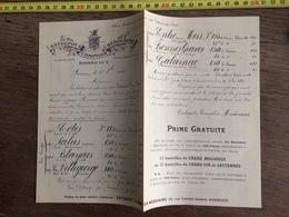 FLYERS ENCART PUBLICITAIRE ENTREPOTS ET COMPTOIRS MEDOCAINS DE BORDEAUX VINS 1910 - Collections