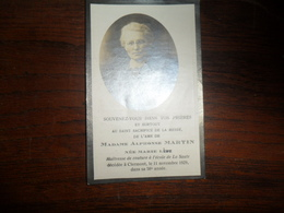 SOUVENIR PIEUX / Mme A MARTIN  NEE MARIE LEBE / CLERMONT 1929 - Avvisi Di Necrologio