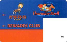 Clearwater River Casino - Lewiston ID - BLANK Slot Card - Casino Cards