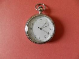 Montre Gousset Quartz Argenté - Verso Bateau Gravé - Horloge: Zakhorloge