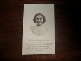 SOUVENIR PIEUX / Mlle M.A. COLSON  / AUBEL 1929 CHENEE 1943 - Avvisi Di Necrologio