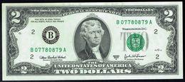 2 US DOLLARS $ - Series 2003 A - N° B 07780879 A - Fw G 15 - MINT - Neuf, NON Plié. - Federal Reserve Notes (1928-...)