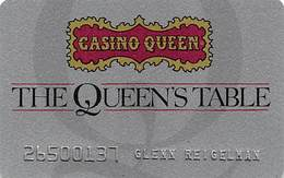 Casino Queen - East St. Louis, IL - Slot Card - The Queen's Table - Casino Cards