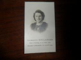 SOUVENIR PIEUX / Mme  GEORGETTE BOULANGER / SERAING 1923  ELLEMELLE 1944 - Avvisi Di Necrologio